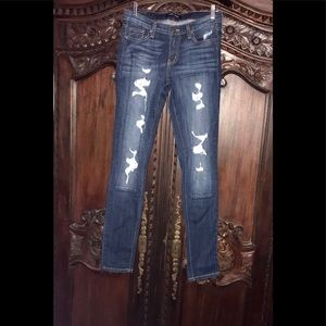 EUC Angry Rabbit Patch Work Destroyed Skinnies!